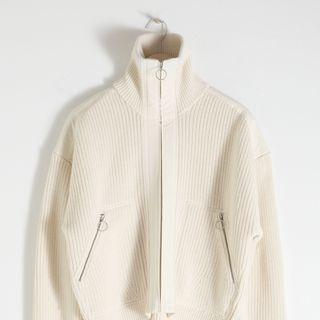 Wool Blend Zippered Turtleneck