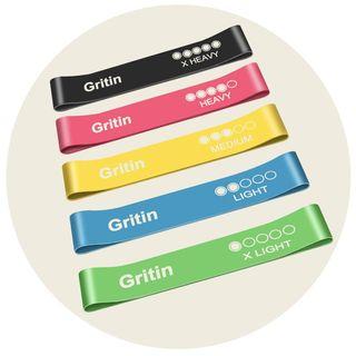 Gritin Resistance Bands [Set of 5]