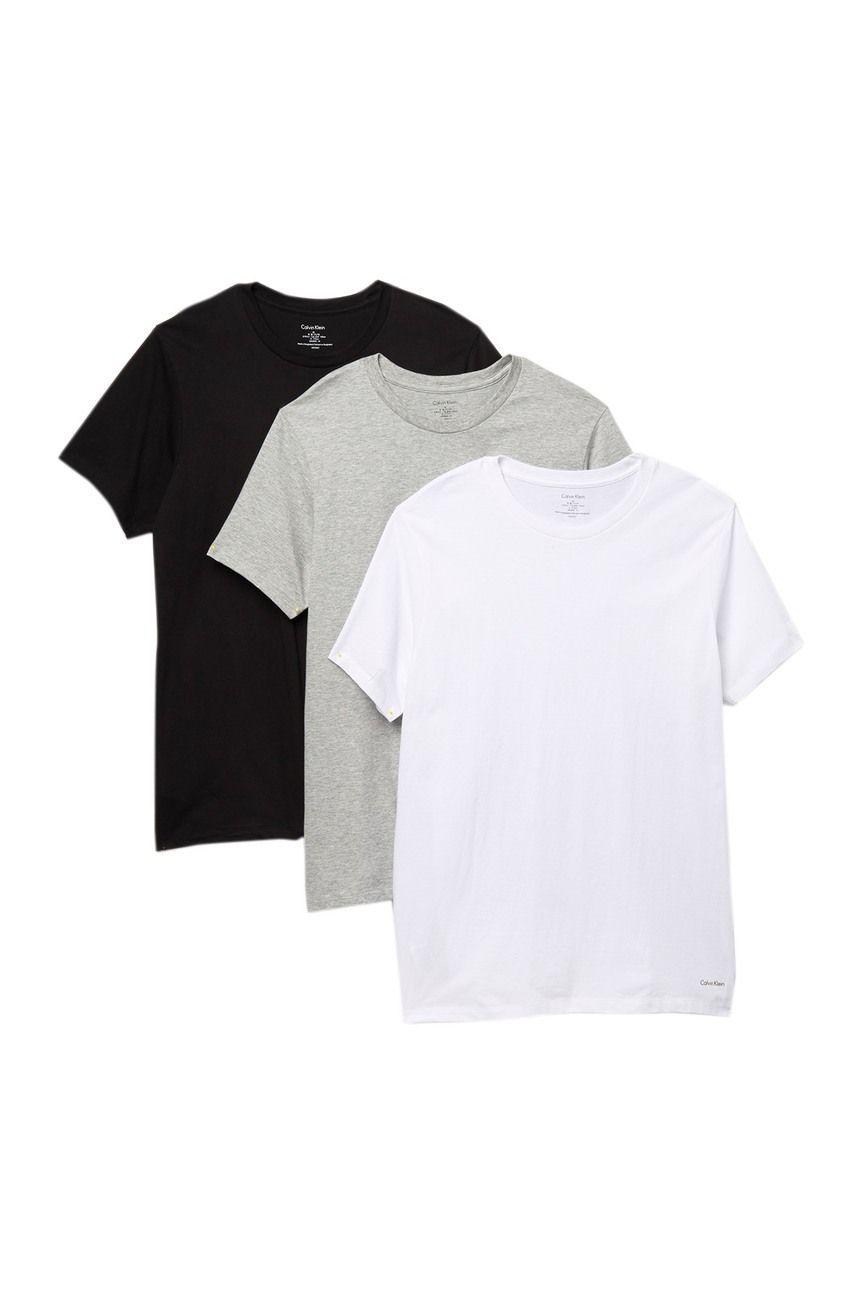 Tommy Hilfiger Men/'s Crew Neck 100/% Cotton Basic Tee T-shirts 3 Pack Undershirts
