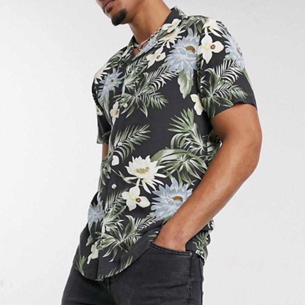 ASOS DESIGN Revere Collar Hawaiian Shirt