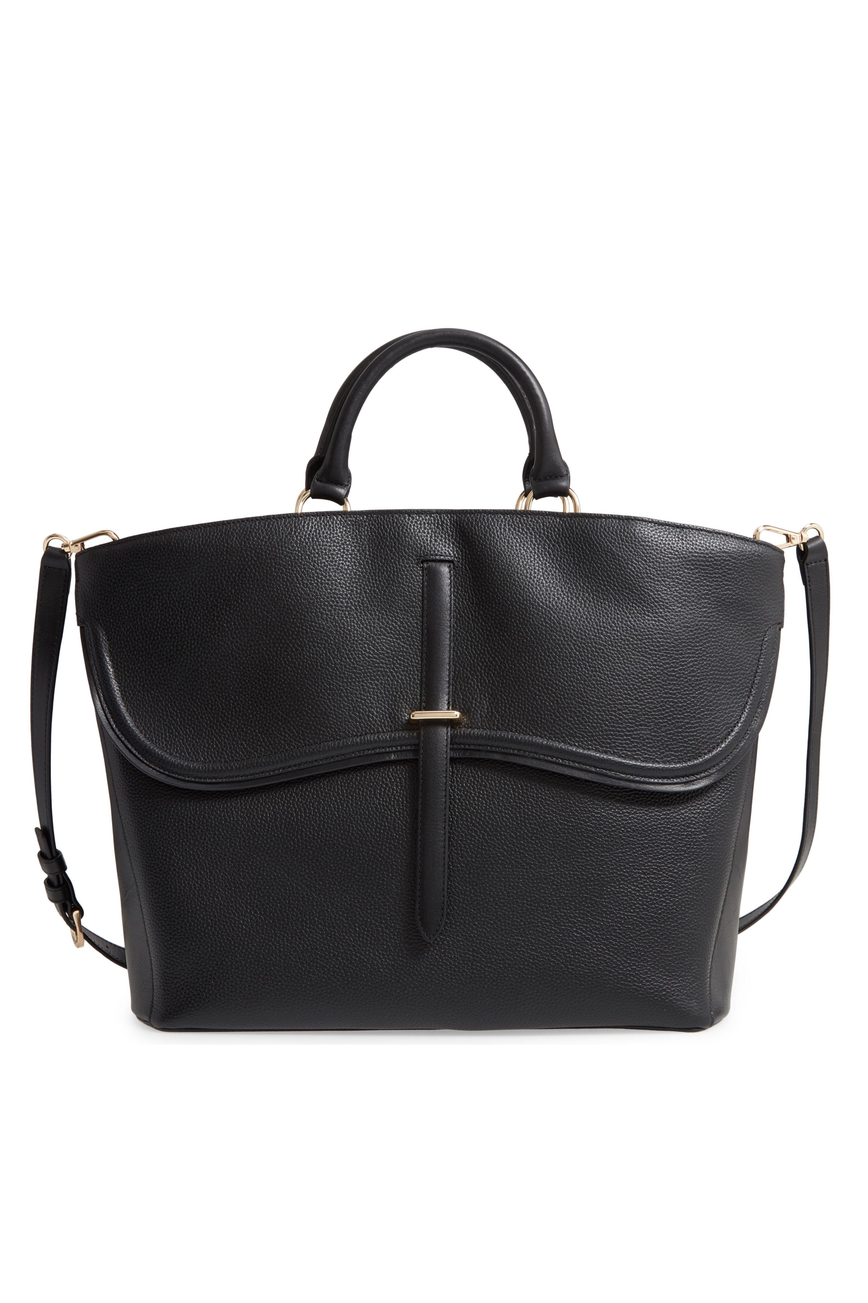 Women/' Black Soft Real Leather Handbag Satchel Shoulder Body Messenger Work Bag