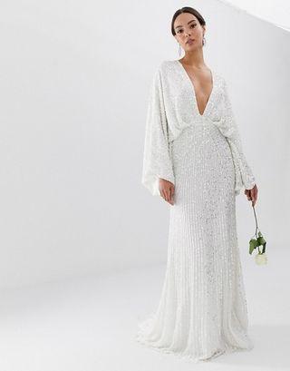 ASOS EDITION sequin kimono sleeve wedding dress