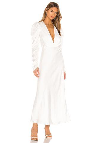 Bardot Zaria Midi Dress in Ivory