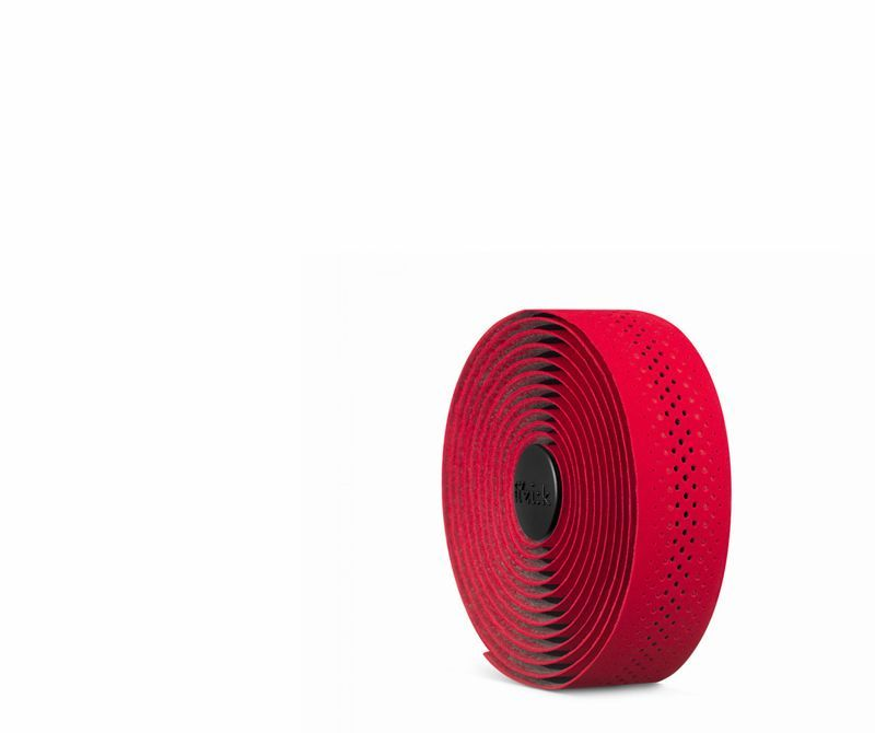 Red Fi/'zik Tacky Touch Microtex 2mm Bicycle Handlebar Tapes plugs