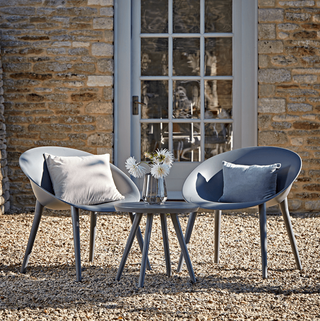Faro Bistro Set in Grey