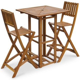 vidaXL 3 Piece Bistro Set Solid Acacia Wood
