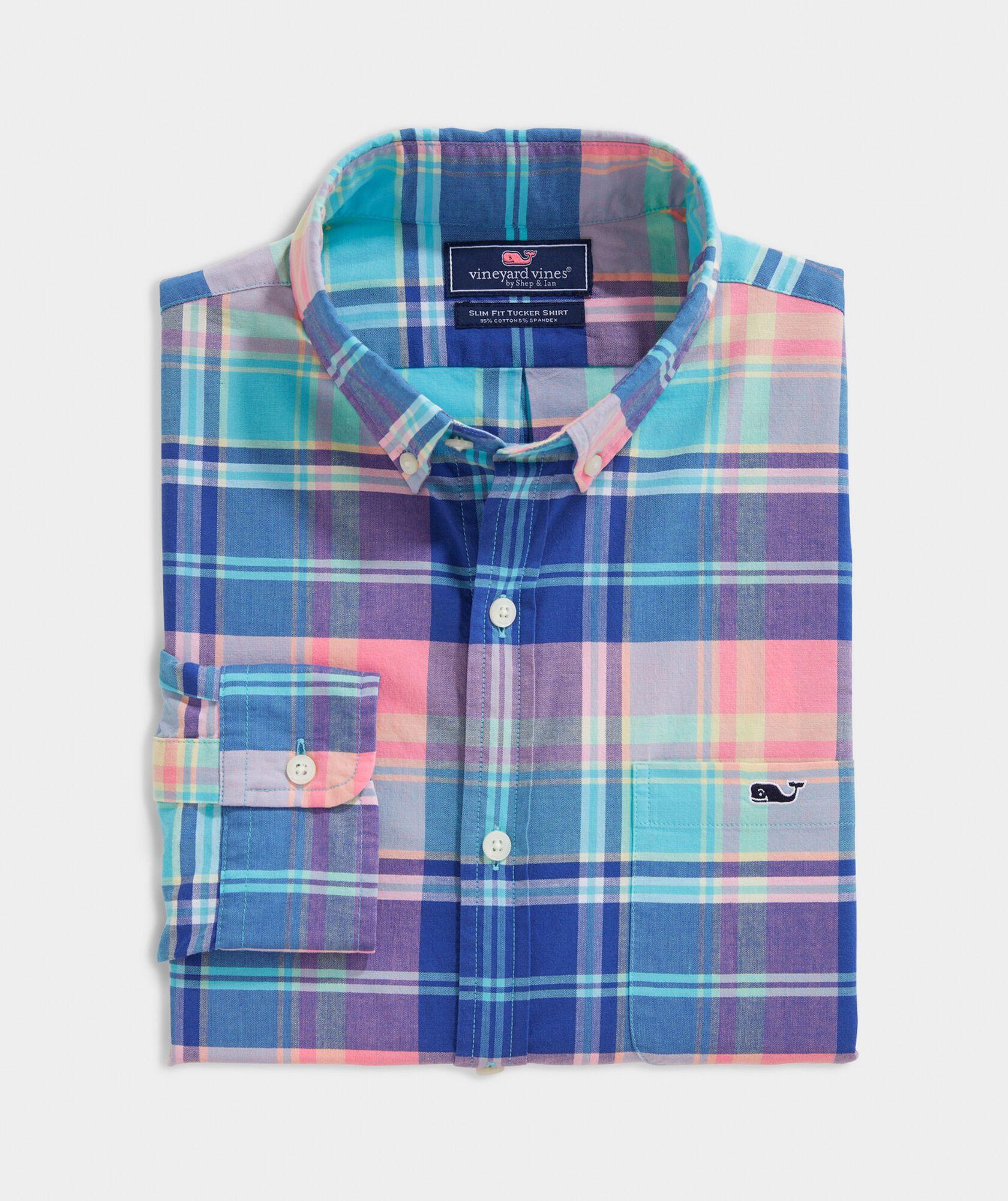 WNSY Men Checkered Leisure Non-Iron Long Sleeve Button up Dress Shirts