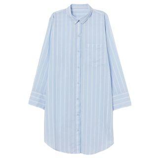 Pinstripe Cotton Nightshirt