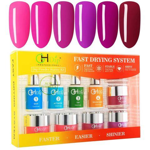 Amazon.com: GH Dip Powder Nail Kit Starter Set Odorless