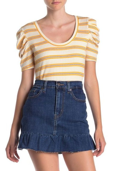 11 Cute Jean Skirt Outfits Denim Skirt Outfit Ideas For Teens
