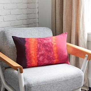 Tie Dye Silk Pillow Cover
