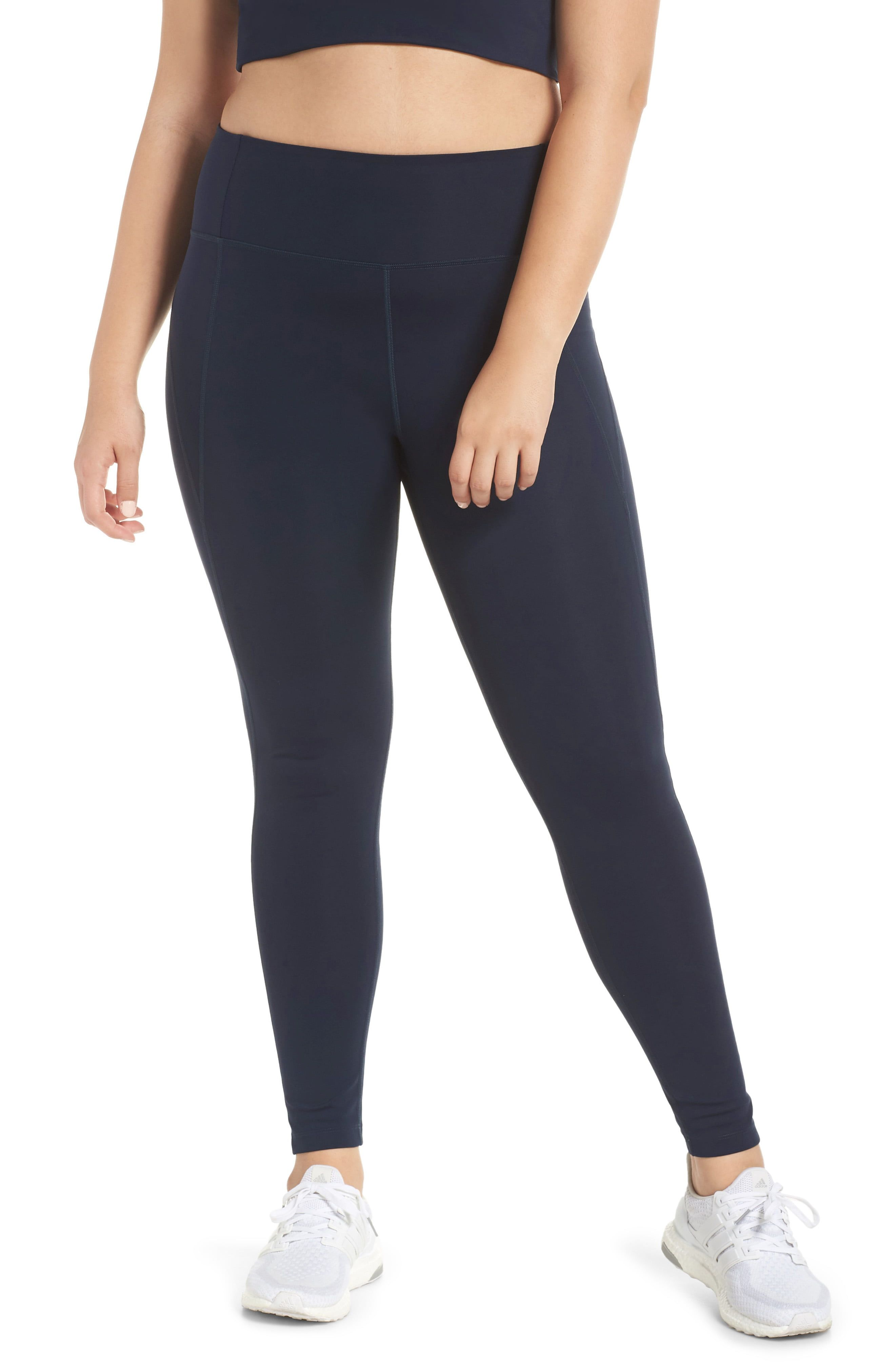 Gym Cropped Leggings Womens Tights Pants Super Soft Full Length Opaque Slim One Size and Plus Size FASHION BOUTIQUE Beelu High Waist Capri Leggings Women