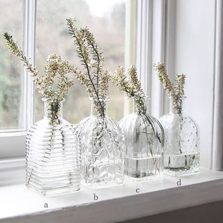 Pressed Glass Square Bottle Vase