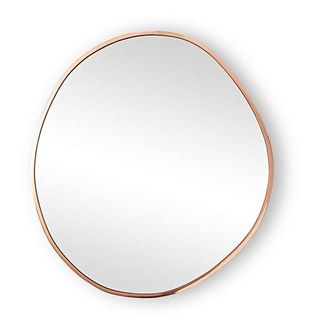 Large Rose Gold Round Pebble Wall Mirror