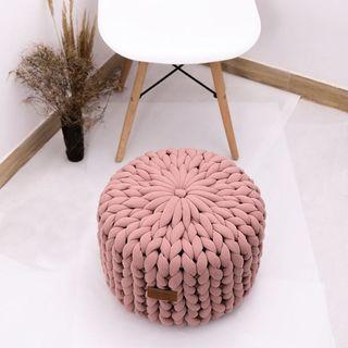 Pink Pillow Ottoman Pouffe