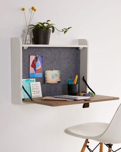 13 Floating Desks For Your Small Workspace Wall Mounted - How To Make A Pull Down Table