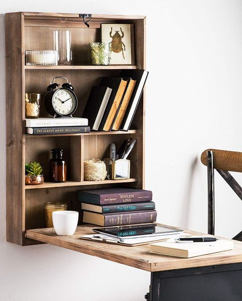 13 Floating Desks For Your Small Workspace Wall Mounted - How To Make A Fold Down Table On Wall