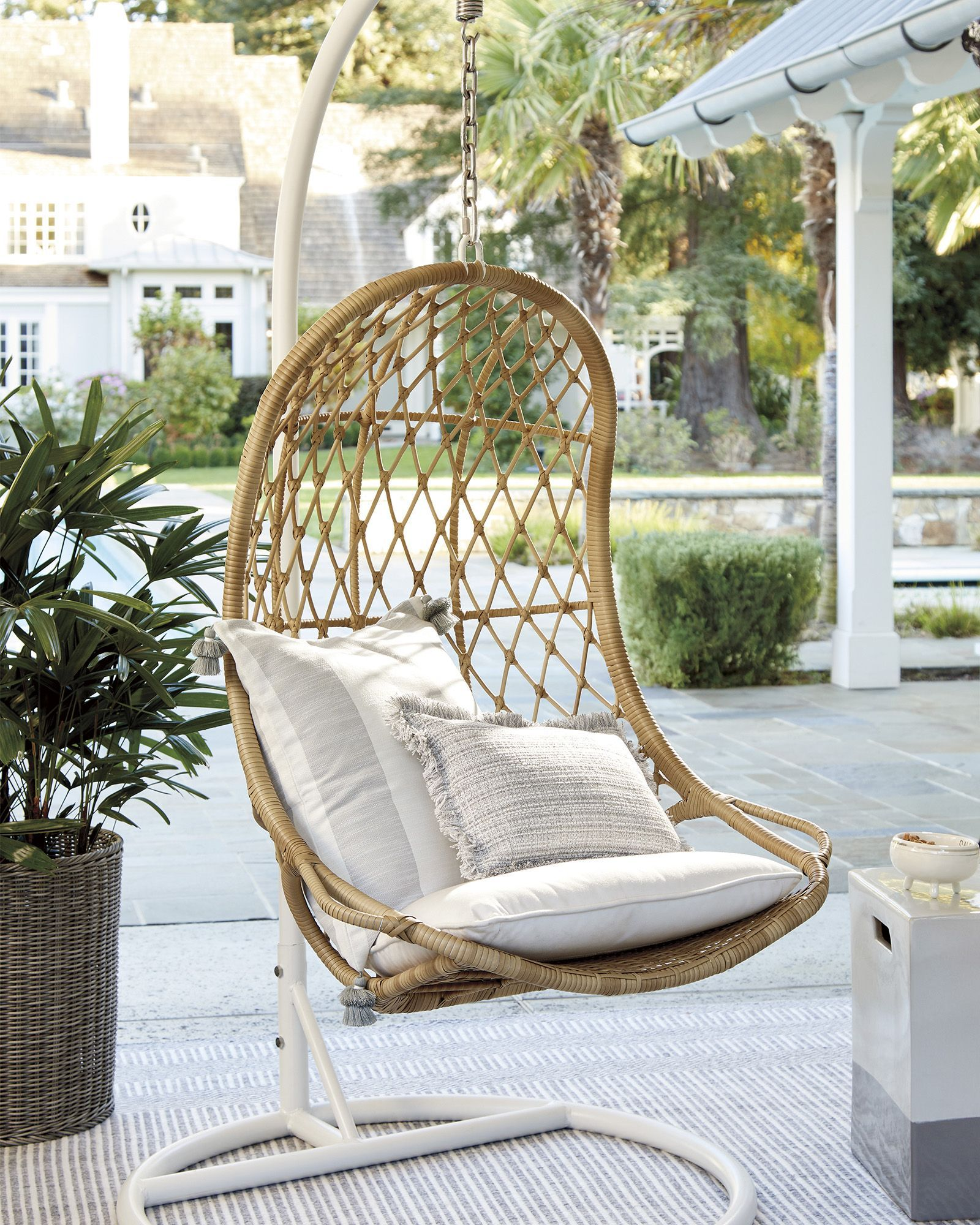 12 Best Patio Egg Chairs Of 2021, Outdoor Swing Chairs With Stand