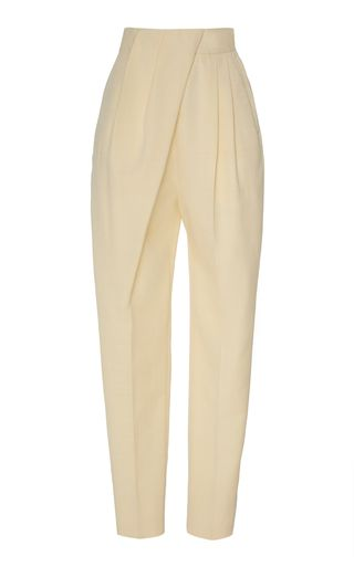 Draped High-Rise Pleated Trousers by Proenza Schouler