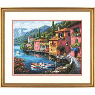 Dimensions Lakeside Village Counted Cross Stitch Kit 38cm x 30cm