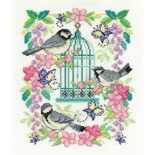 DMC Oriental Birdcage Cross Stitch Kit 8 x 10 Inch