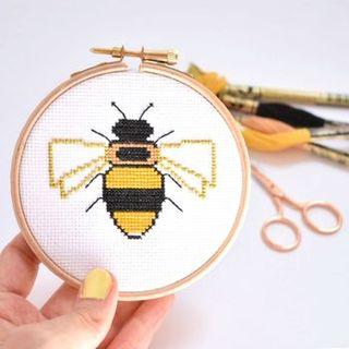 Bee Cross Stitch Kit