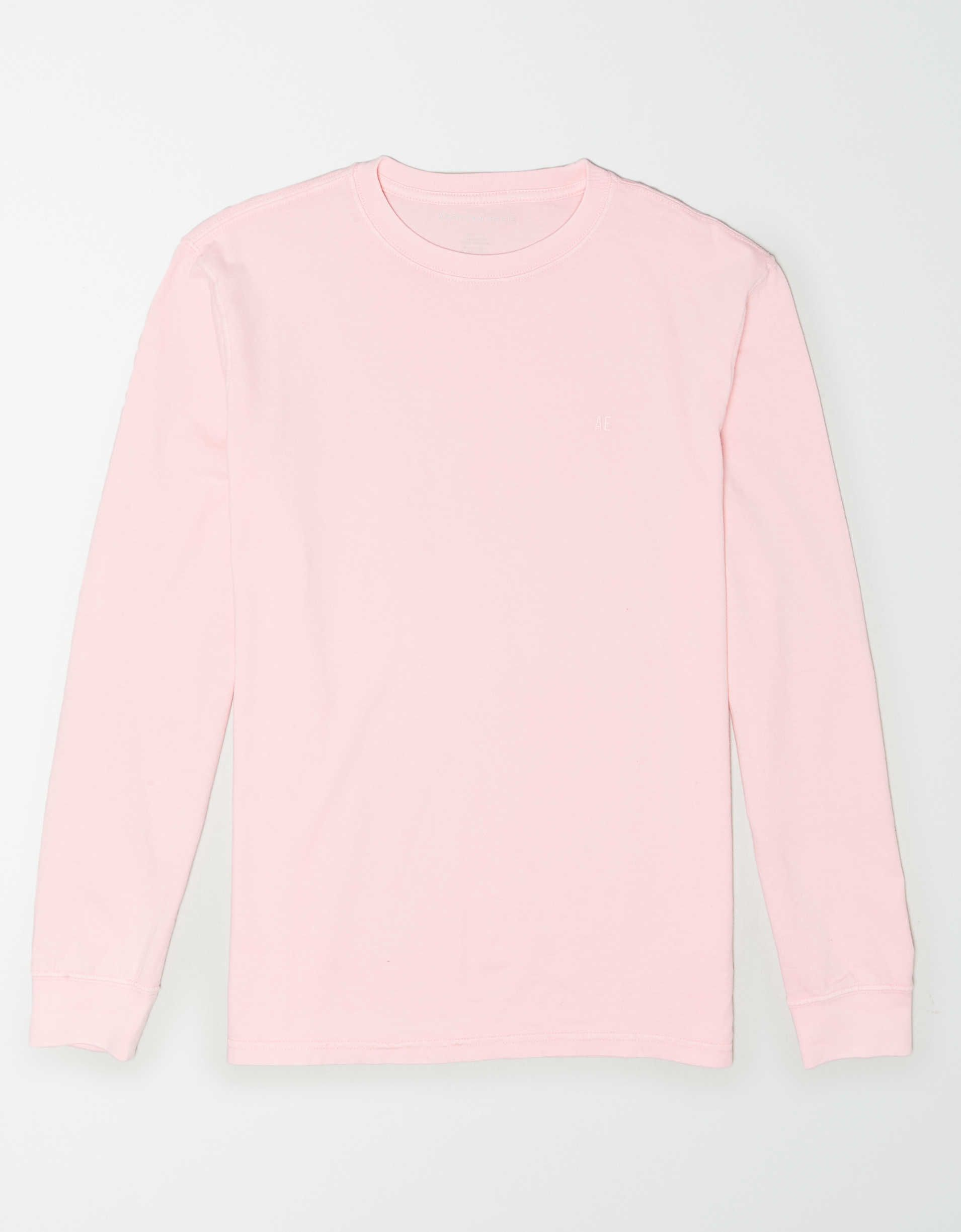 IEason Men Solid Color Long Sleeve Easy Comfy Tops Blouse Daily Clothes Online Store