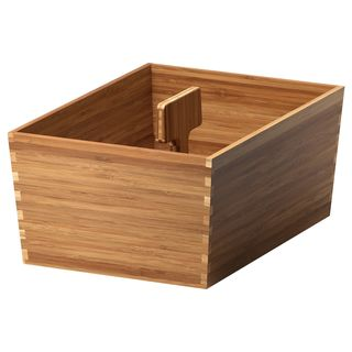 VARIERA Box with handle, bamboo