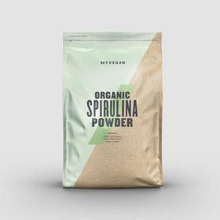 Pó de espirulina orgânica