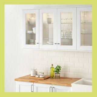 AXSTAD Glass door, matt white, 18x40