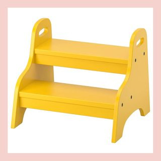 TROGEN Child's step stool, yellow, 15 3/4x15x13