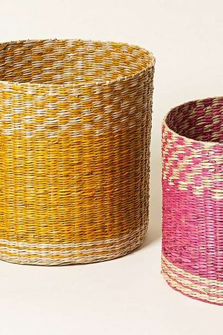 Seagrass Storage Baskets Set of Two