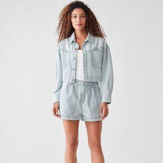 Taryn Cropped Oversize Jacket