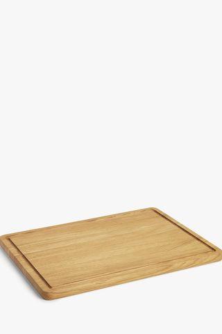 Large Oak-Wood Chopping Board