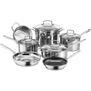 Cuisinart Professional Series 11 Piece Stainless Steel Non Stick Cookware Set