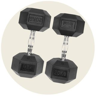 Rubber Dumbbell Hex Weights