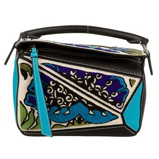 Puzzle Floral Mini Crossbody Bag