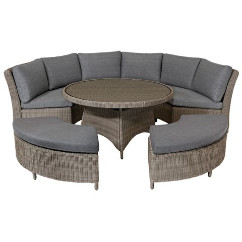 29 Rattan Garden Furniture Pieces For, Grey Rattan Garden Furniture Patio Sofa Chair Set Conservatory Alfresco