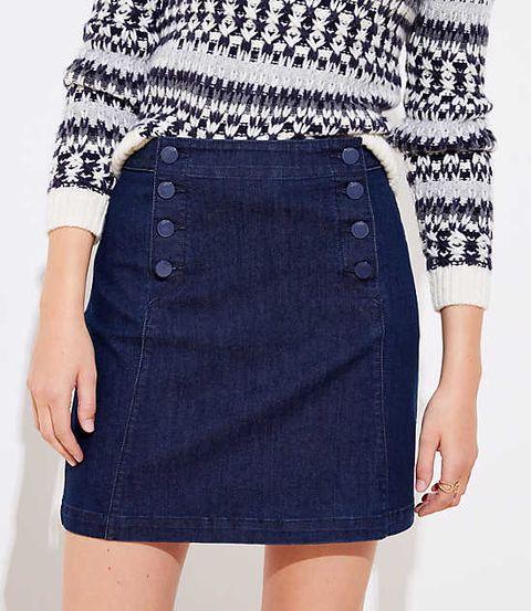 15 Cute Jean Skirt Outfit Ideas 2020 How To Wear A Denim Skirt
