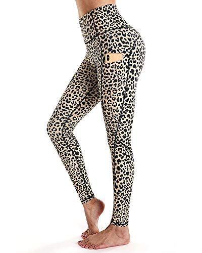 Blue Black Dog Animal Pattern Leggings Womens Pattern Print Leggings High Waist Yoga Shorts Workout Leggings