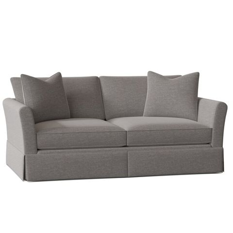 small gray leather sofa