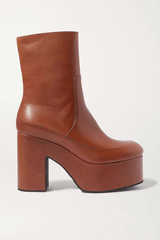Jim Hugh Woman Fashion Air Mesh Spring Autumn Boots Lace Up Wedges Platform Round Toe Mid Calf Boots