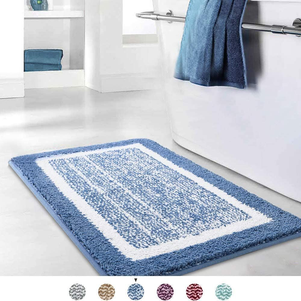 Blue Bathroom Rug