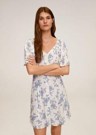 Angie Womens Floral Print High Neck Spaghetti Strap Dress