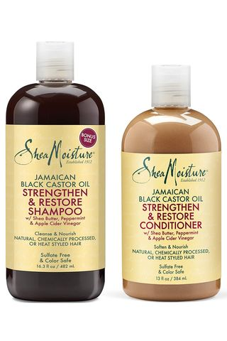 Strengthen, Grow & Restore Shampoo and Conditioner, Jamaican Black Castor Oil Combination Pack