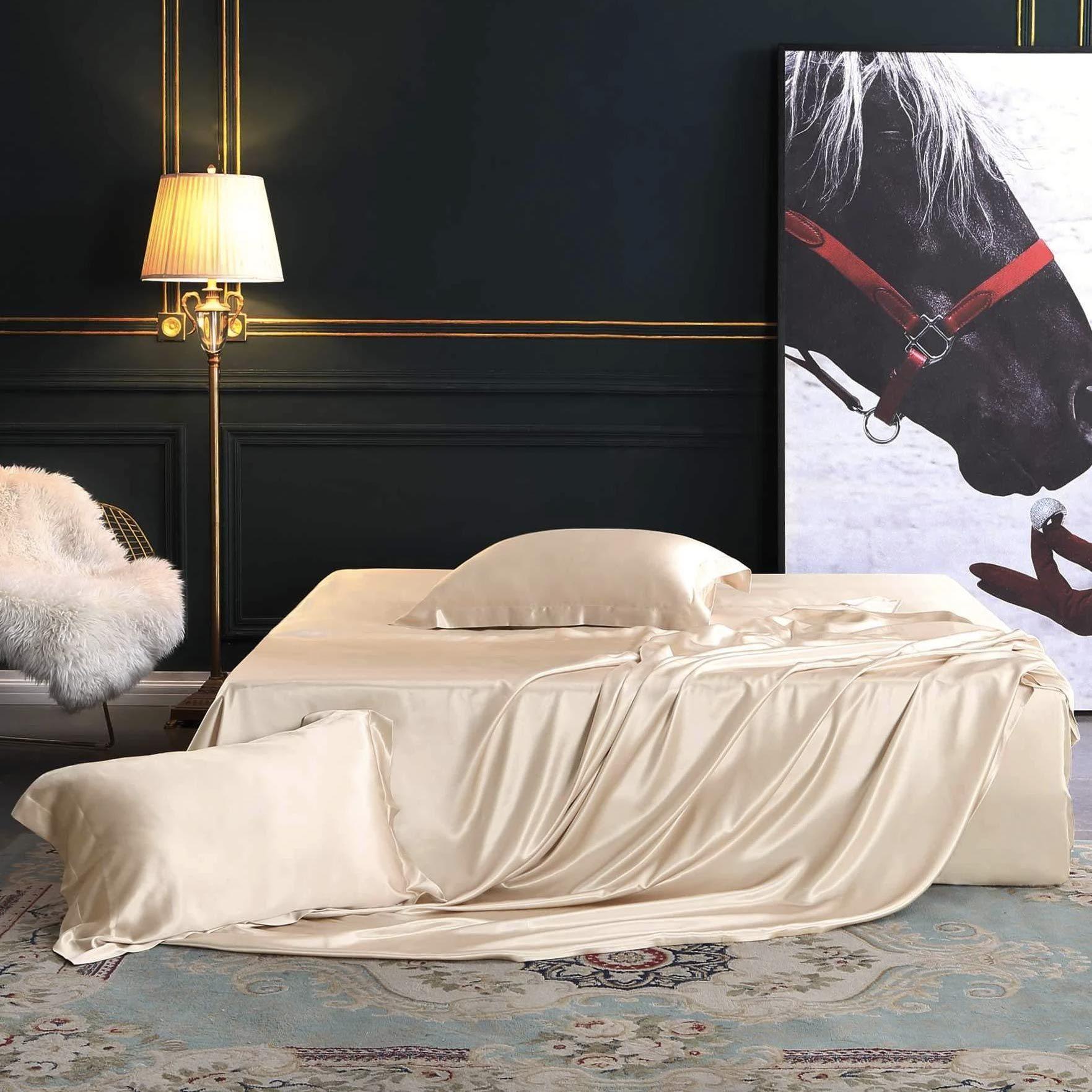 10 Best Silk Sheets Of 2021 Top Silk Satin Bed Sheet Sets