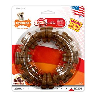 Nylabone Power Chew Textured Dog Chew Ring Toy Flavor Medley Flavor X-Large / Souper - 50+ lbs.