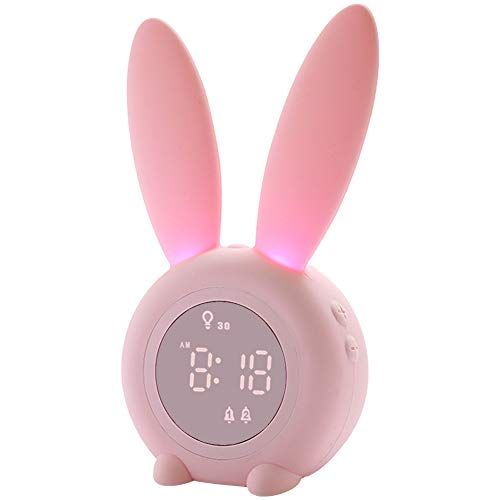 7 Colors Changing Light Bedside Clock for Childrens Bedroom Wake Up Digital Clock for Boys Girls with Indoor Temperature Touch Control Snoozing OUTWIT Kids Alarm Clock【2020 Version】