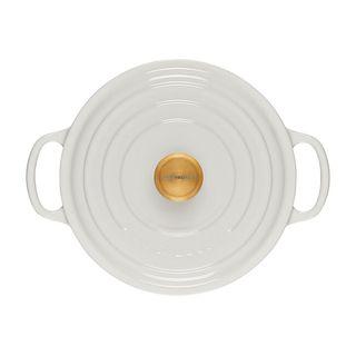Round Dutch Oven with Gold Knob