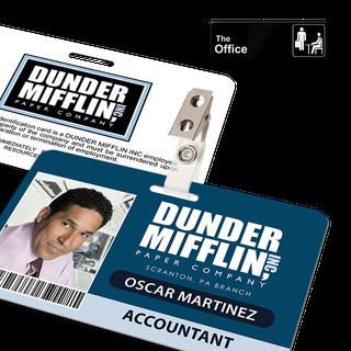 The Office Inspired - Dunder Mifflin Employee ID Badge - Oscar Martinez